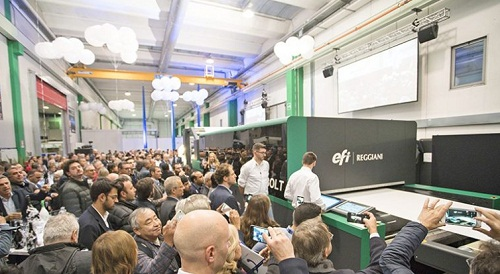 EFI introduces next gen single pass Reggiani BOLT digital printer 002