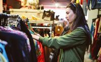 Secondhand clothes become fashionable in the US market